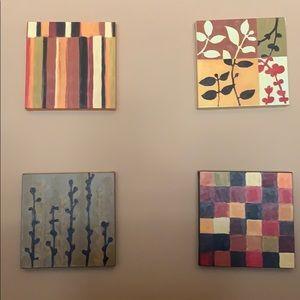 Set 4 canvas paintings